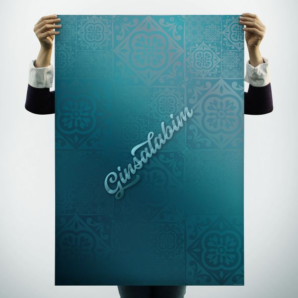 """Geschenkpapier """"Ginsalabim"""" für Gin-Fans"""