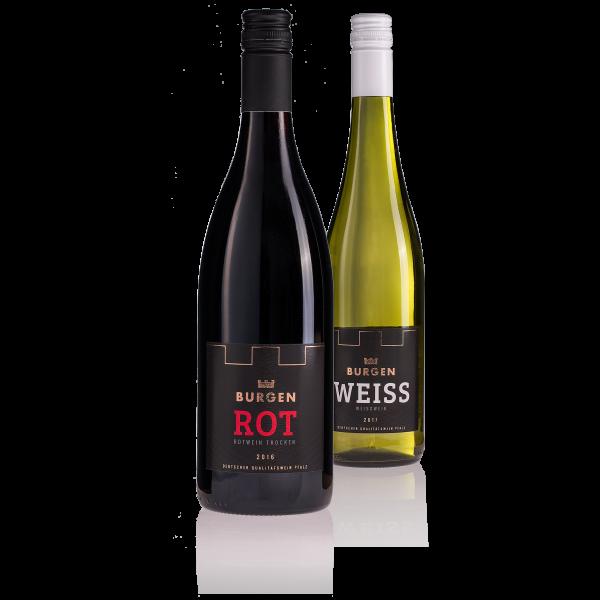Burgen Wein 2er Pack (Rot, Weiss à 750ml)