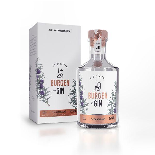 Burgen Dry Gin 45%%vol. inkl. Geschenkkarton